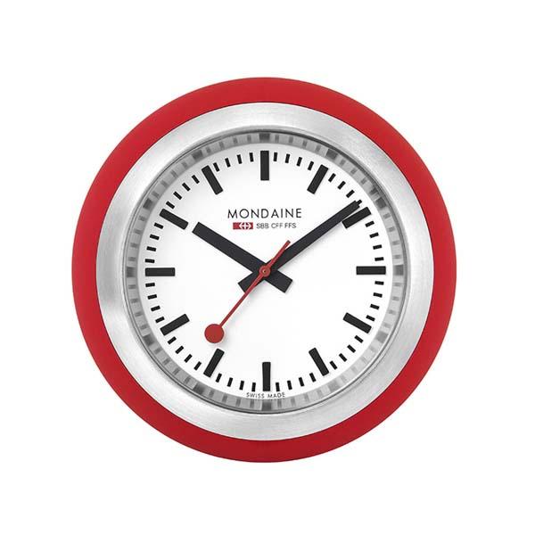【クーポン利用で1000円OFF】A660.30335.16SBC MONDAINE モンディーン スイス国鉄時計 デスククロック グローブ 黒 置き時計 国内正規品 送料無料