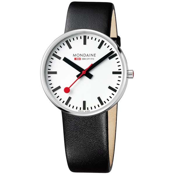 【クーポン利用で1000円OFF】MSX.4211B.LB MONDAINE モンディーン スイス国鉄時計 ミニジャイアント メンズ 腕時計 国内正規品 送料無料