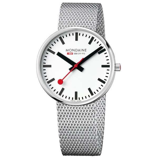 【クーポン利用で3000円OFF】MSX.4211B.SM MONDAINE モンディーン スイス国鉄時計 ミニジャイアント メンズ 腕時計 国内正規品 送料無料
