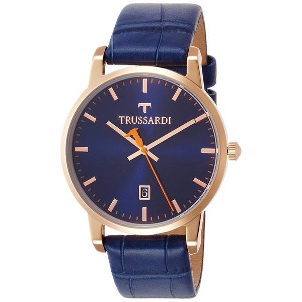 【クーポン利用で1000円OFF】2451113001 TRUSSARDI トラサルディ ブルー 青 メンズ 腕時計 送料無料