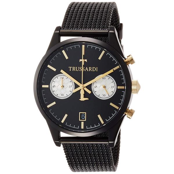 【クーポン利用で1000円OFF】2473613001 TRUSSARDI トラサルディ 黒文字盤 ブラック メンズ 腕時計 送料無料