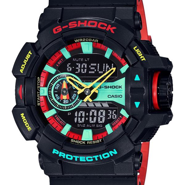 【クーポン利用で1000円OFF】GA-400CM-1AJF G-SHOCK Gショック ジーショック カシオ CASIO ブリージー ラスタカラー ブラック レッド メンズ 腕時計 国内正規品