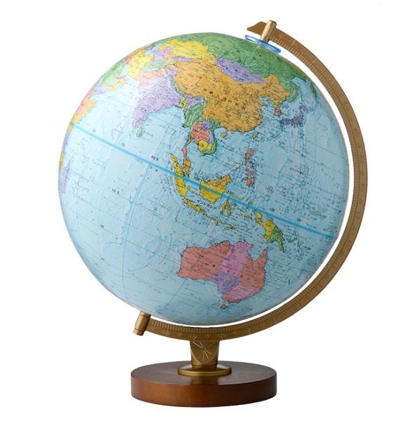 【小さなお子様からご年配の方まで】リプルーグルアンティーク地球儀エンデバー型【4000を超える豊富な地理情報】