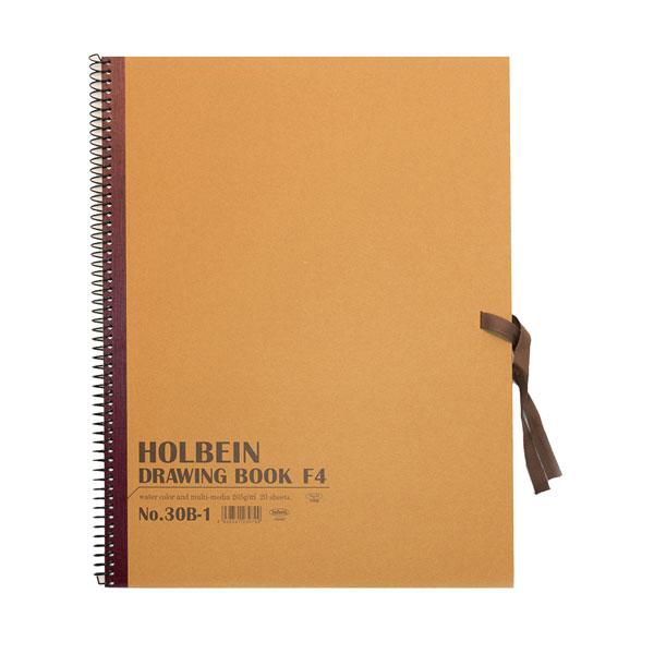 ホルベインDRAWING BOOKR画用紙スケッチブックスプリング 無料 日本限定 No.30F4