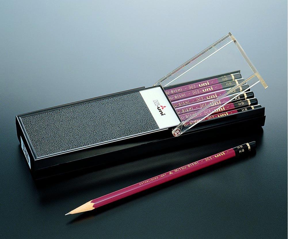 【金箔押しお名入れ無料】三菱鉛筆鉛筆ハイユニ【ネコポス発送できます】