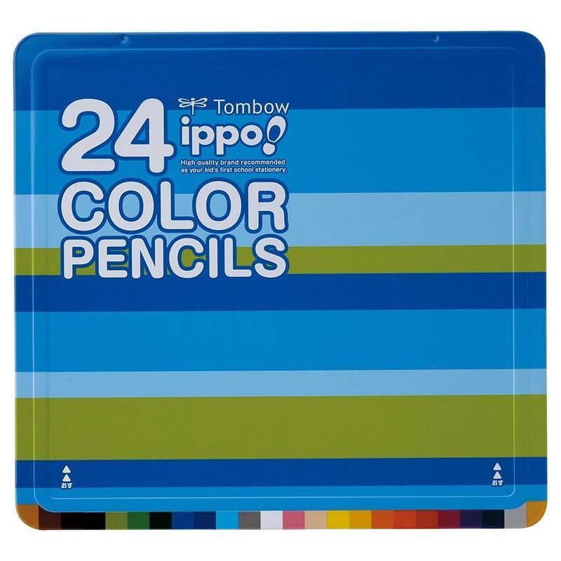 数量限定大特価 トンボ色鉛筆 春の新作シューズ満載 新品 ippo スライド缶 24色CL-RPW0224C CL-RPM0224C
