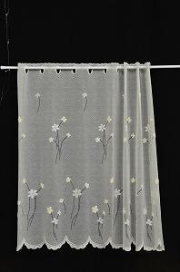 花紋咖啡廳窗簾75cm長茉莉