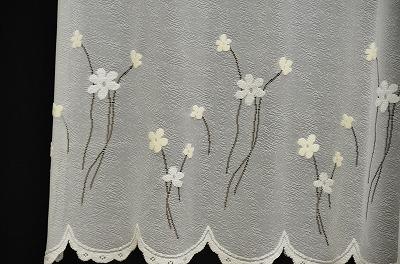 花纹咖啡厅窗帘75cm长茉莉