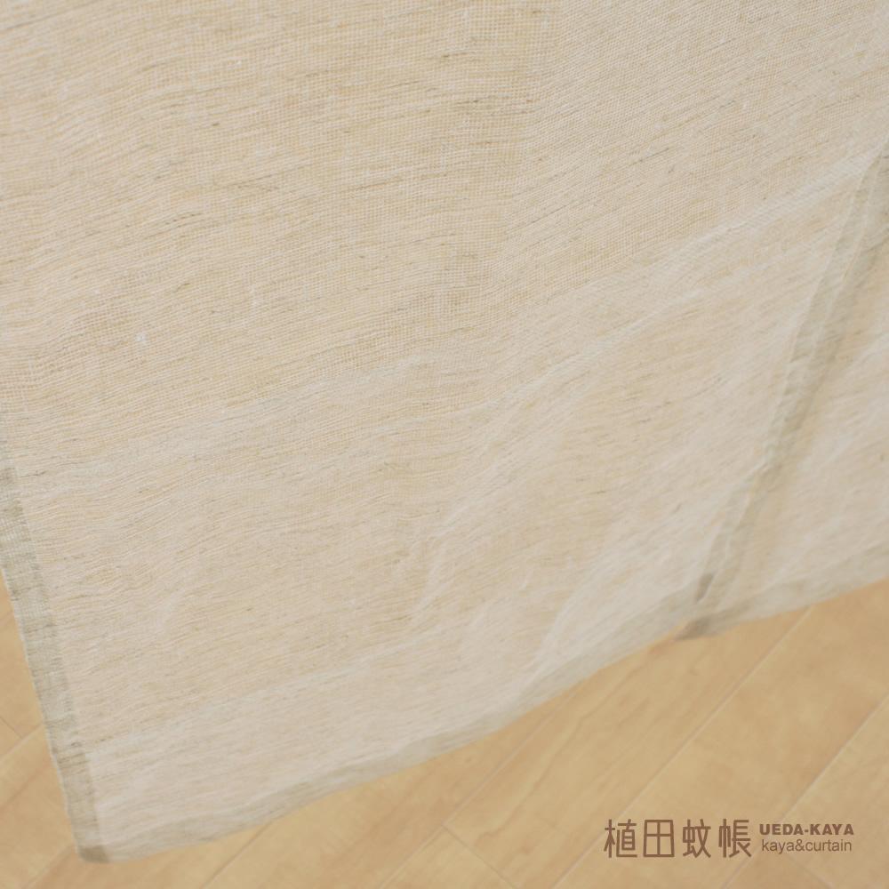 【国産 麻100%】蚊帳生地麻のれん 巾90cm×丈150cm