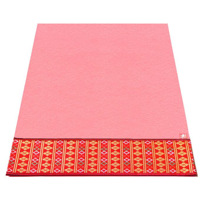 【柄が選べる】「敷折織」 ひな人形用ピンク毛氈(ピンク毛せん)(ピンクもうせん) 床飾り45号 [幅150×奥行き90cm]