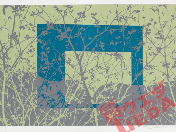 【栄】【絵画】版画/サイン・エディション/木/花/草/自然/風景画/美術/芸術/作品/作家不明【中古】
