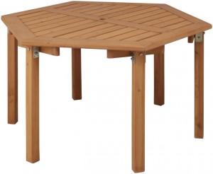 【送料無料】ウッディーガーデン六角テーブル WEF-150TN