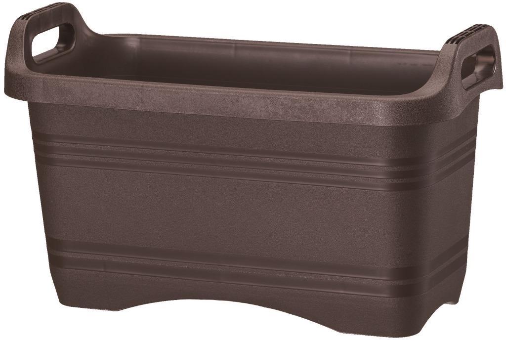 【送料無料】 ハンドルプランター 深45型 ダークブラウン 18個セット プランター 深型 大和プラスチック