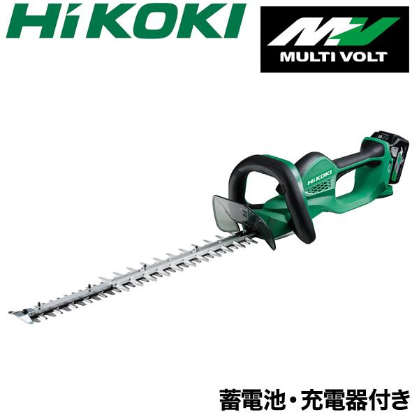 【バッテリー2個/充電器セット】【HiKOKI】 充電式 ヘッジトリマー CH3656DA(2XP) ヘッジトリマ バリカン 本体 日立工機