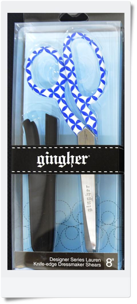 ☆GINGHERギンガーデザイナーシリーズ2017年度版 「Lauren」ローレン8インチ裁ちはさみ