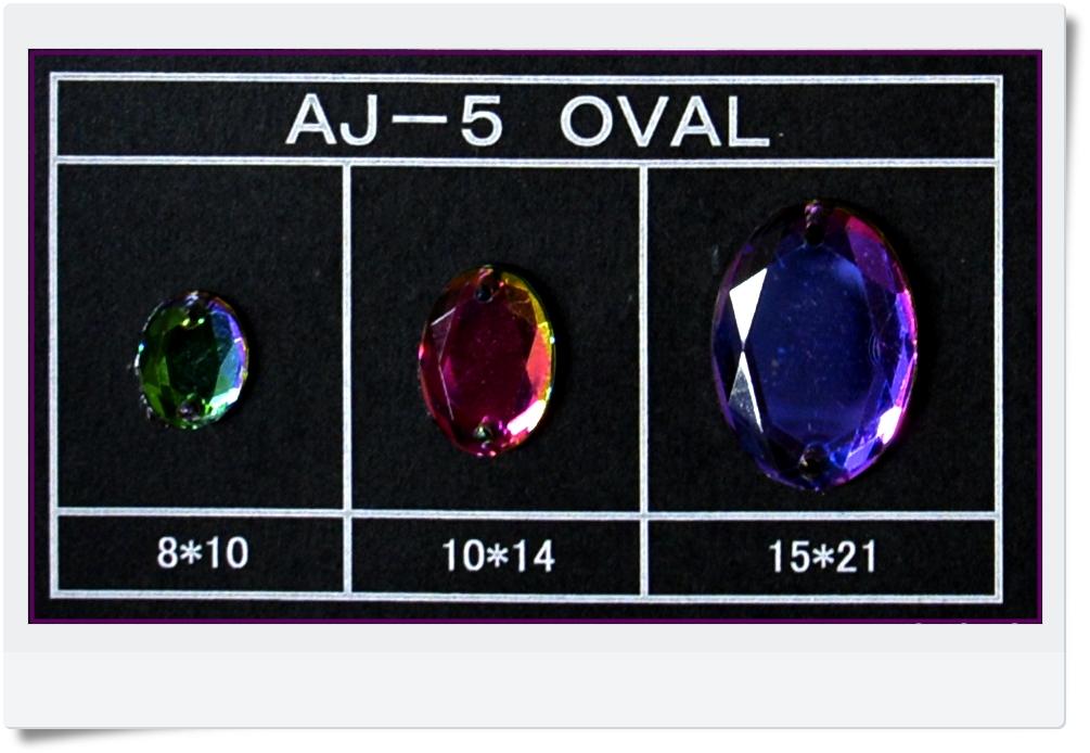 蔵 Acrylic jeweryAJ-5 OVAL 国内送料無料 14mm10個入 10