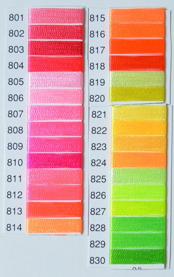 人気 春の新作 キングスターミシン刺しゅう糸 75 2 801~830まで 3000m 蛍光色