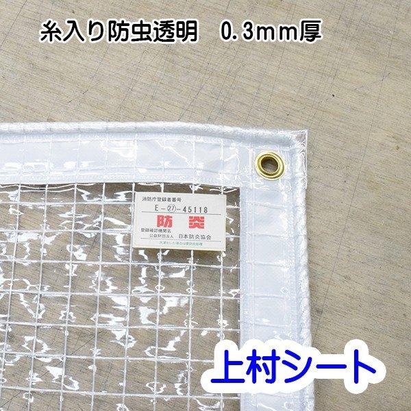 【エントリーでポイント5倍】防虫 透明ビニールカーテン 糸入り 0.3mm厚x幅50-90cmx高さ180-200cm