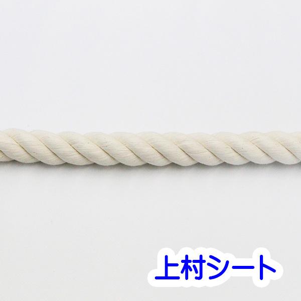 綿ロープ 生成り コットンロープ 直径24mmx長さ200m 国産