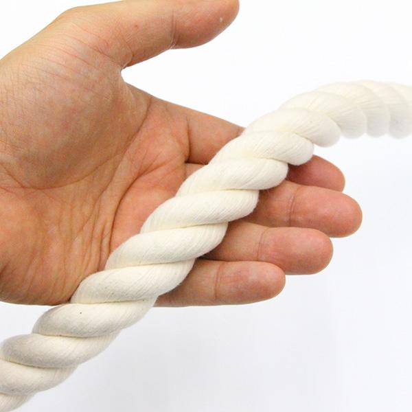 【楽天市場】綿ロープ コットンロープ 生成り カット販売 直径 ...