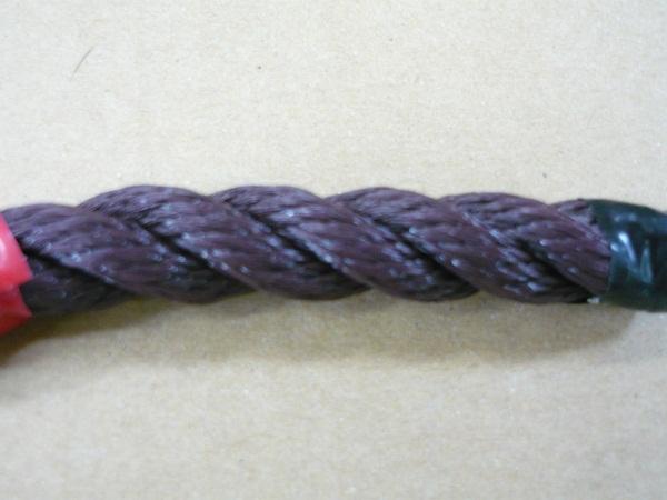 PEロープ ポリロープ 茶色 国産 3打 直径12mm x 長さ200m 3つ打ちロープ 国産 ポリエチレンロープ