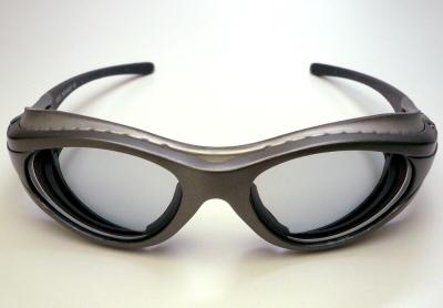 2008アックスSG-603P-SV-RXハイカーブ度付きサングラス