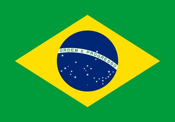 ブラジル 国旗 アクリル生地 120x180cm