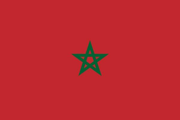 モロッコ 国旗 アクリル生地 120x180cm