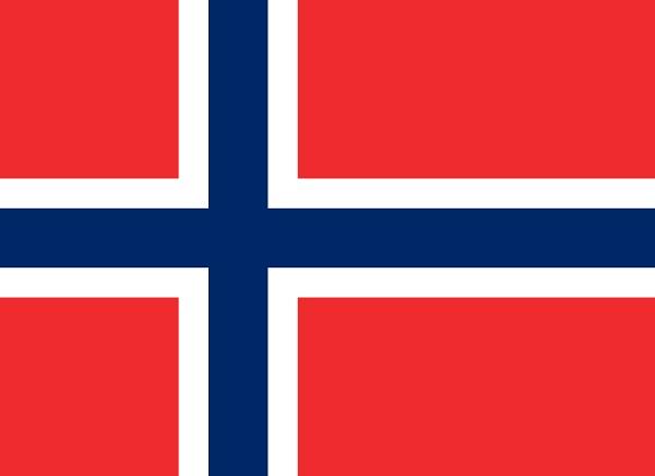 ノルウェー 国旗 アクリル生地 120x180cm