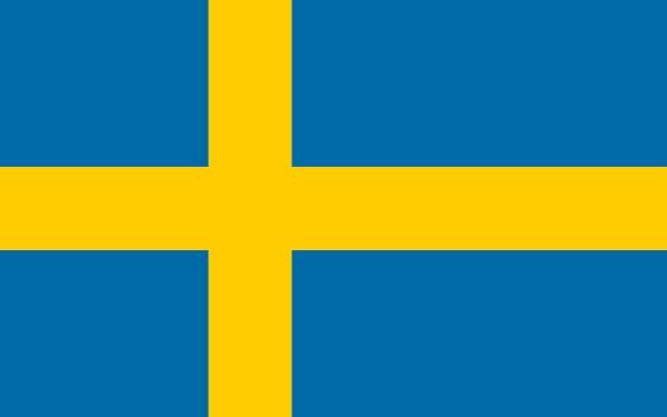 スウェーデン 国旗 アクリル生地 70x105cm
