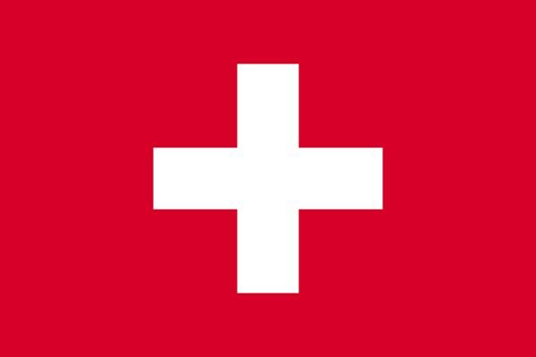 スイス 国旗 アクリル生地 120x180cm