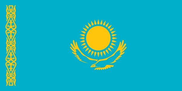 カザフスタン 国旗 アクリル生地 90x135cm