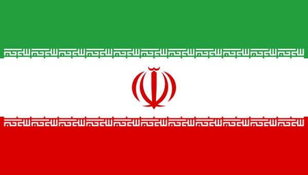 イラン 国旗 アクリル生地 120x180cm