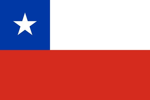 チリ 国旗 アクリル生地 90x135cm