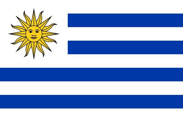 ウルグアイ 国旗 アクリル生地 120x180cm