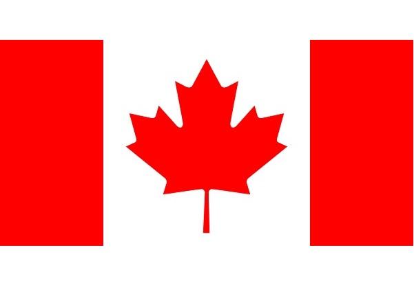 カナダ 国旗 アクリル生地 120x180cm