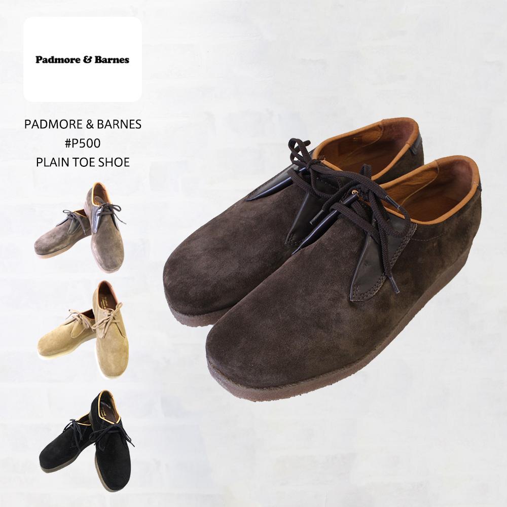 PADMORE & BARNES パドモア&バーンズ #P500 PLAIN TOE SHOE プレーントゥシューズ【あす楽対応】