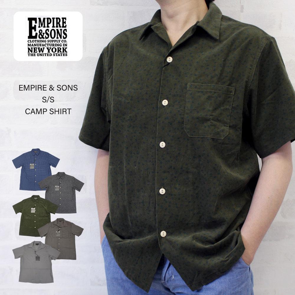 EMPIRE & SONS エンパイア アンド サンズ S/S CAMP SHIRT コットン リネン レーヨン キャンプシャツ