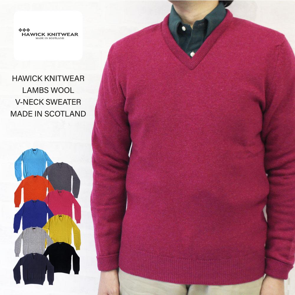 HAWICK KNITWEAR ホーウィック ニットウェア LAMBS WOOL V-NECK SWEATER ラムズウール Vネックセーター MADE IN SCOTLAND/HAWICK KNITWEAR ホーウィック ニットウェア ラムズウール Vネックセーター