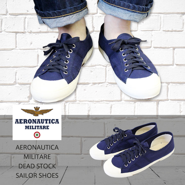 AERONAUTICA MILITARE アエロナウティカミリターレ DEAD STOCK (dead stock) SAILOR SHOES  (セイラーシューズ) Italian military canvas sneakers