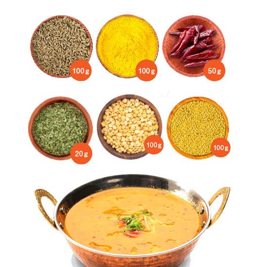 新鮮な豆とスパイスセット ダールカレー 送料無料 同梱包可能 日本 数量は多 チャナダールとムングダールの豆カレーセット ネコポス2配送 ダルカレー