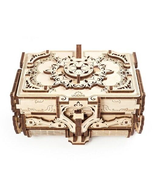 Ugears ユーギアーズ アンティークボックス 70089 Antique Box 木製 ブロック メーカー公式ショップ 卓越 DIY パズル 組立 知育 模型 工作キット 3D おもちゃ キット 創造力 想像力 つくるんです ウッドパズル