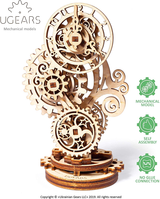 Ugears ユーギアーズ スチームパンククロック 70093 Steampunk Clock 木製 ブロック DIY パズル 組立 創造力 ウッドパズル おもちゃ 知育 想像力 3D つくるんです アウトレットセール 特集 在庫処分 工作キット キット 模型
