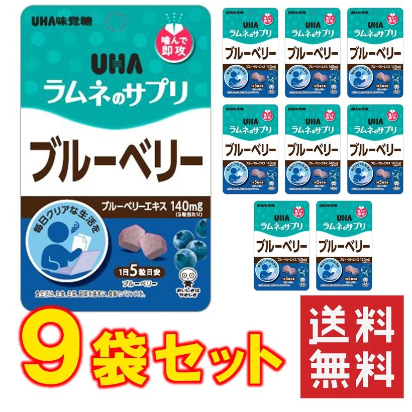 UHAラムネのサプリ ブルーベリー 9袋セット