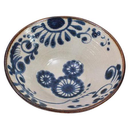 ◇【三郷陶器 ディズニー ミッキー 昭・和陶房 深鉢(藍) 3258-01】◎