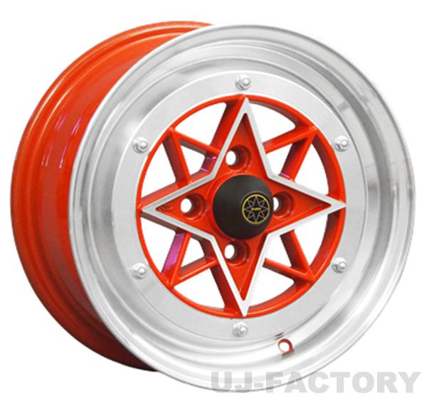 STAR SHARK 復刻版 RED 4本購入で送料無料 [COLIN PROJECT] 14×9.0J (スターシャーク) 4H PCD114.3 -26 旧車ホイール
