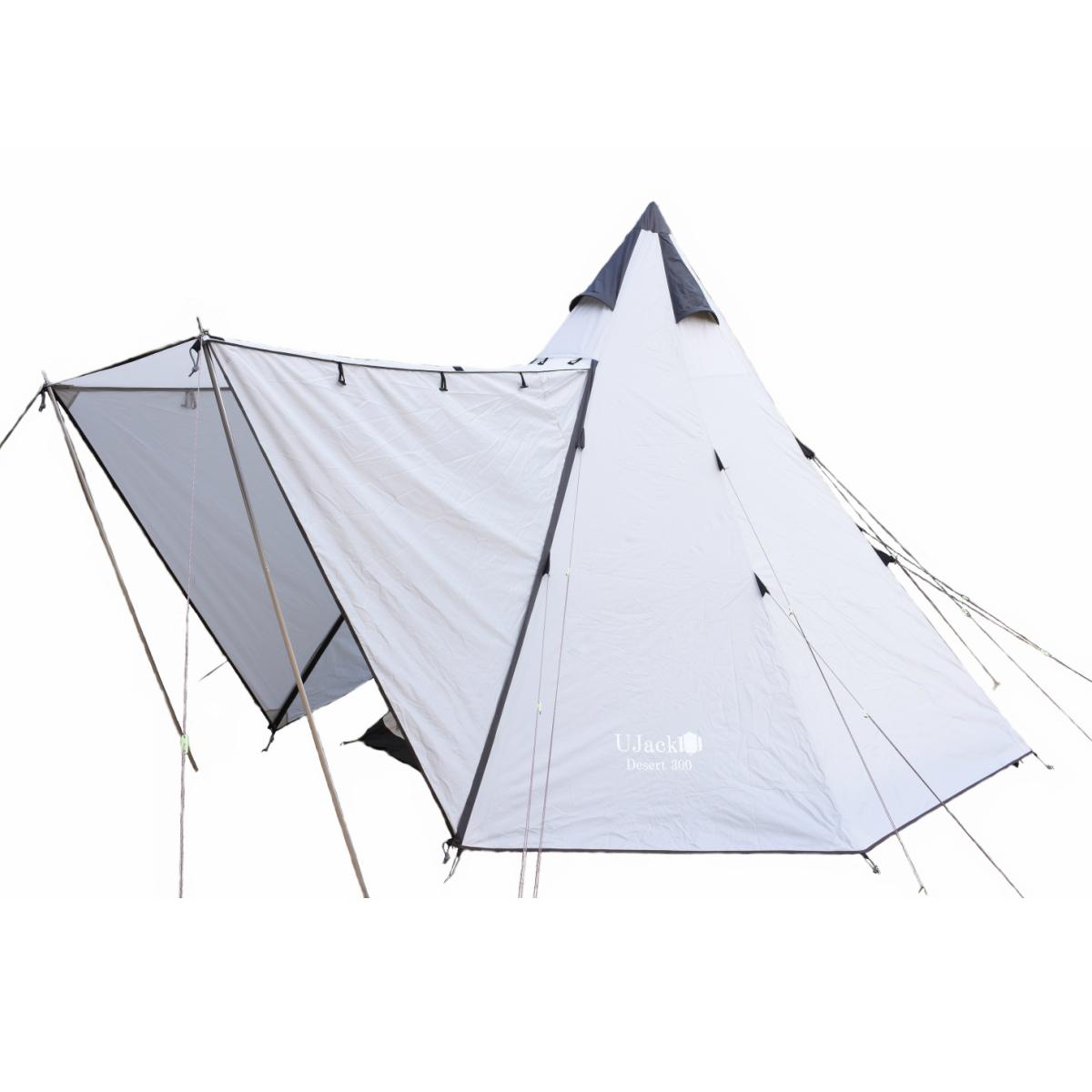 UJack(ユージャック) テント ワンポールテント Desert300 1~4人用 コットンインナー
