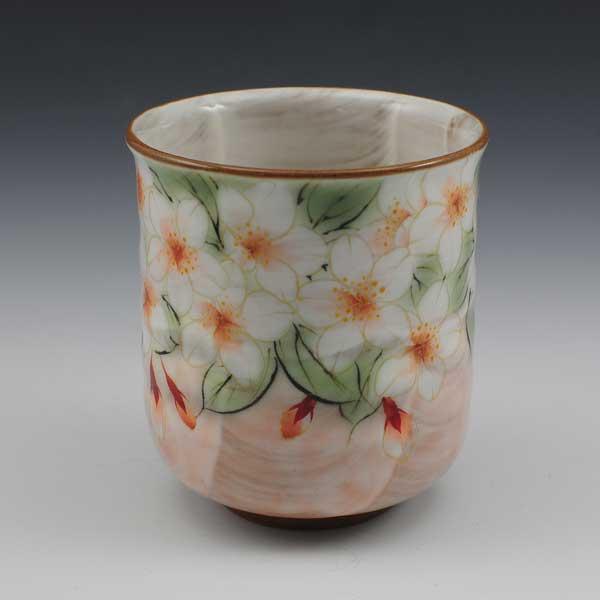【 送料無料 】 京焼 清水焼 京 焼き 京焼き 花集いシリーズ 一ヶ湯呑 湯飲み茶碗 桜