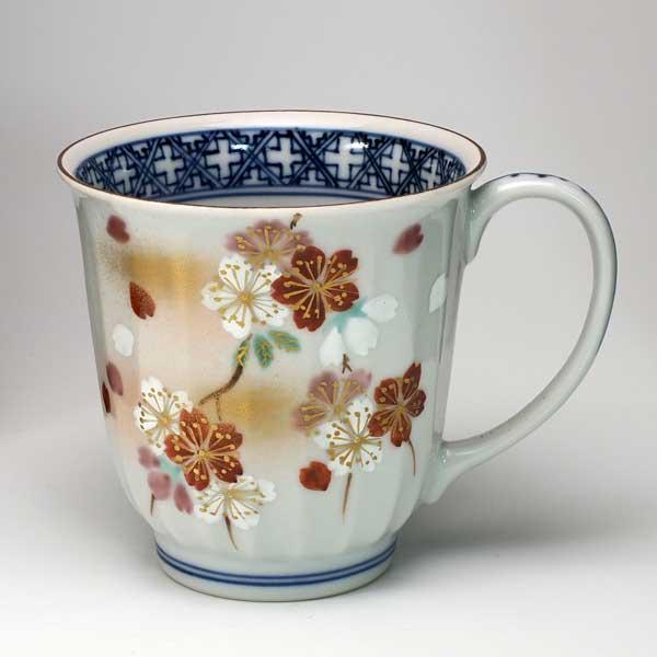 【 送料無料 】 京焼 清水焼 京 焼き 京焼き マグカップ 京の桜