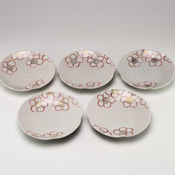【 送料無料 】 京焼 清水焼 京 焼き 京焼き 小皿 5枚セット りんごの花